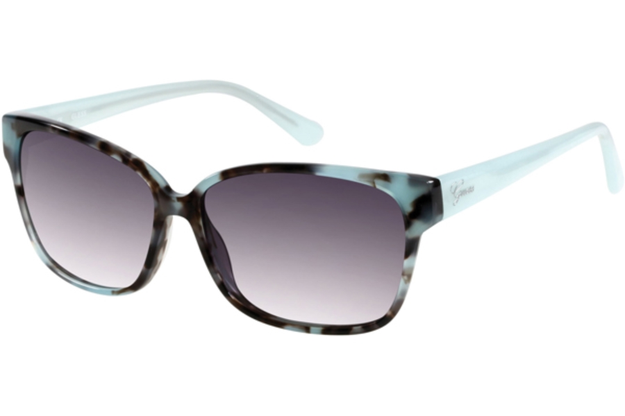 Guess GU 7331 Sunglasses in D79 - Coloured Havana / Gradient Smoke