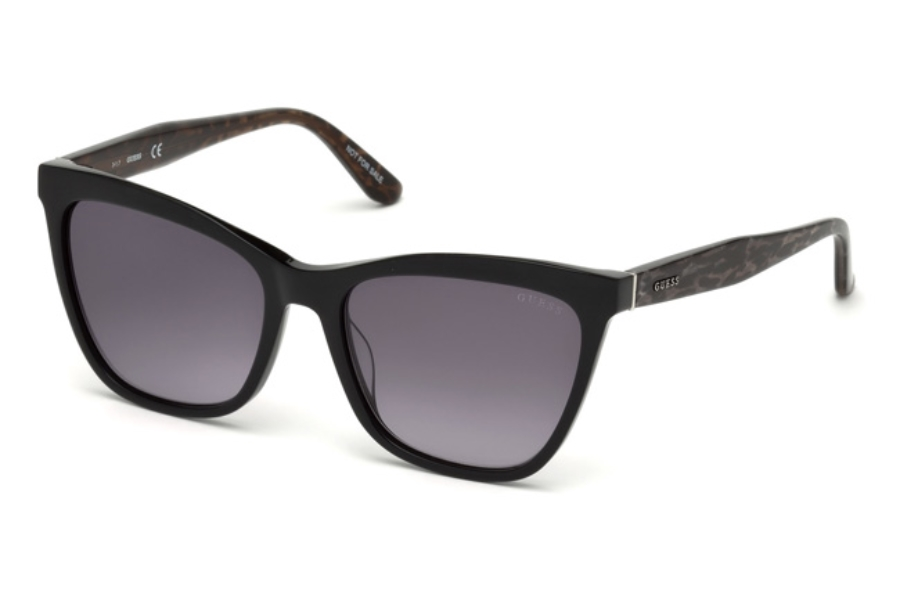 Guess GU 7520 Sunglasses in 05B - Black/Other / Gradient Smoke