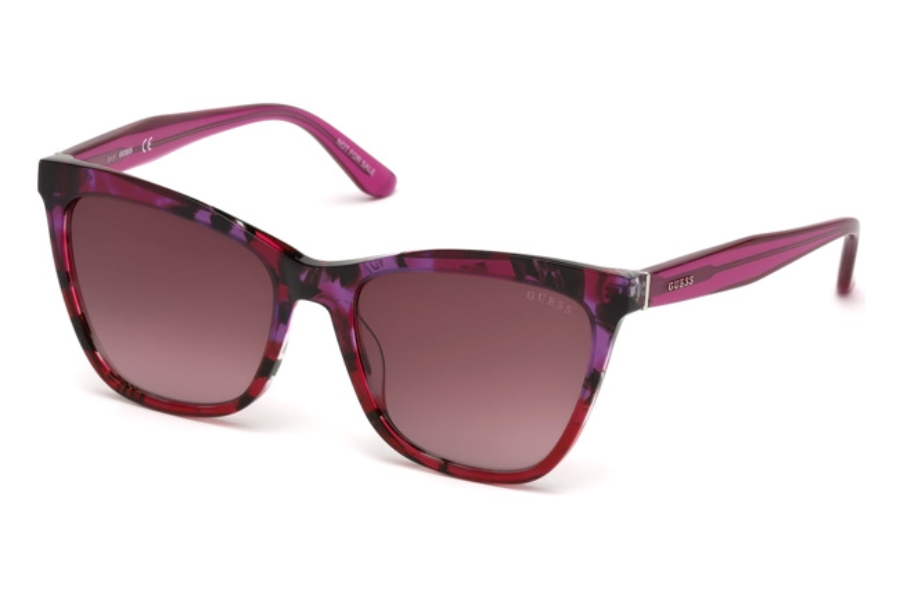 Guess GU 7520 Sunglasses in 83Z - Violet/Other / Gradient Or Mirror Violet