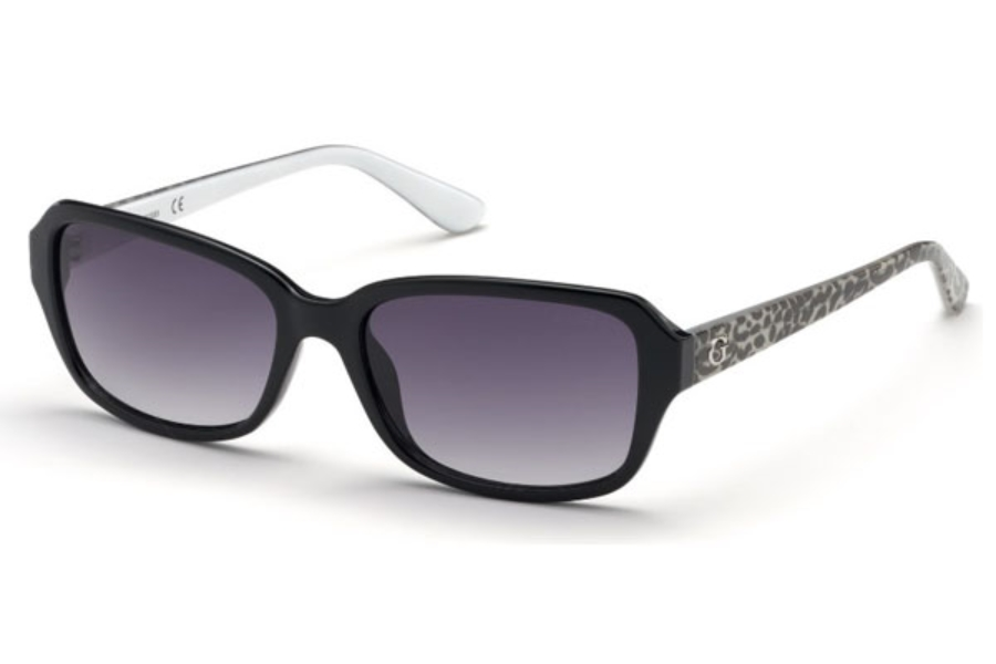 Guess GU 7595 Sunglasses in 05B - Black/other / Gradient Smoke