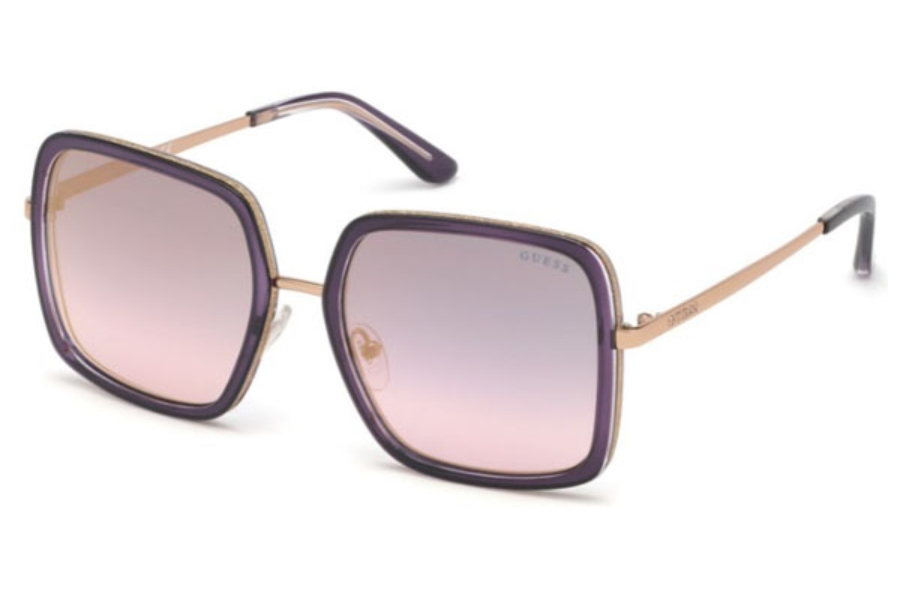 Guess GU 7602 Sunglasses in 83Z - Violet/other / Gradient Or Mirror Violet