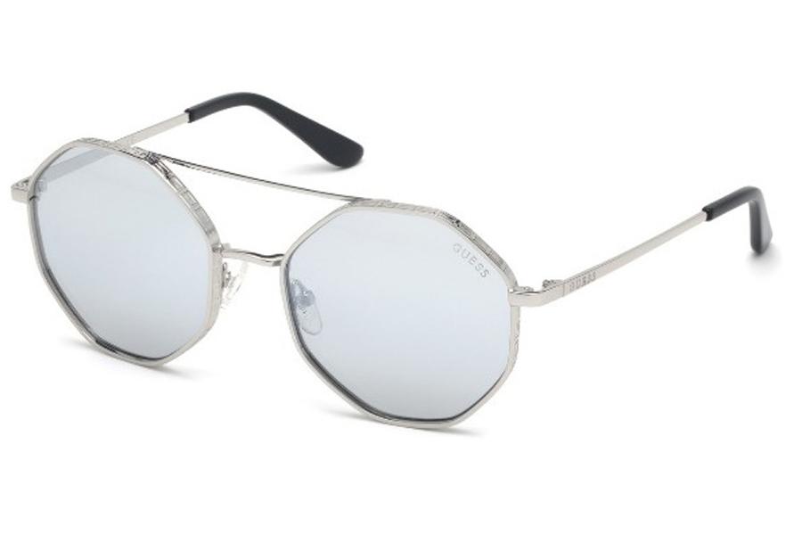 GUESS Womens Glam Half-Frame Sunglasses