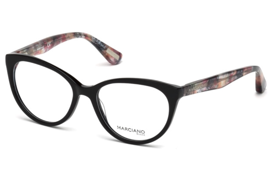 Guess by Marciano GM 315 Eyeglasses in 001 - Shiny Black