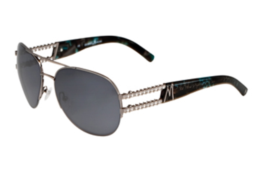 Guess by Marciano GM 611 Sunglasses in GUN-3 SATIN GUNMETAL