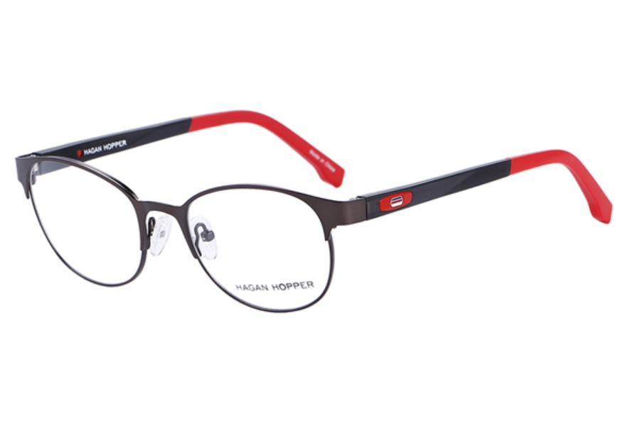 Hagan Hopper H6025 Eyeglasses in C2- Blk/ Red