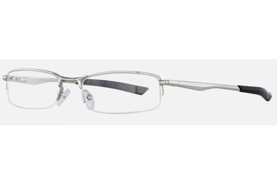 Halftime Halftime Jockey Eyeglasses in Silver/Black