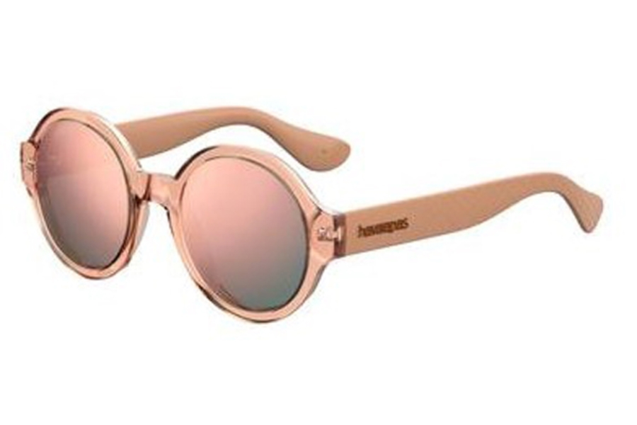 Havaianas Floripa/M Sunglasses in 09R6 Salmon (0J gray rose gold lens)