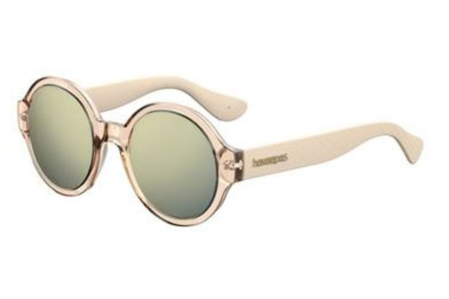 Havaianas Floripa/M Sunglasses in 0J5G Gold (JO gray bronze mirror lens)