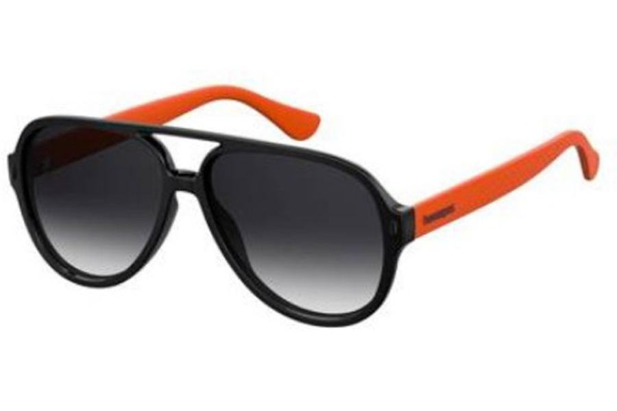 Havaianas Leblon Sunglasses in 08LZ Black Orange (9O dark gray gradient lens)
