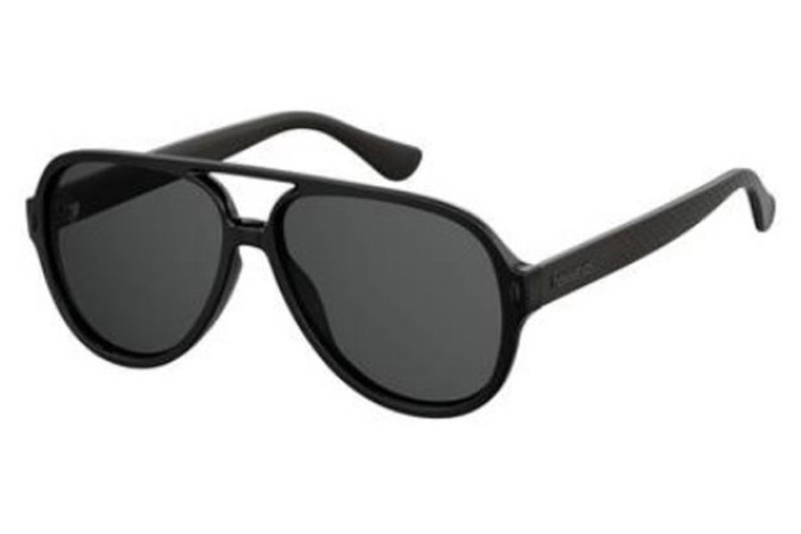 Havaianas Leblon Sunglasses in 0QFU Black (IR gray blue lens)