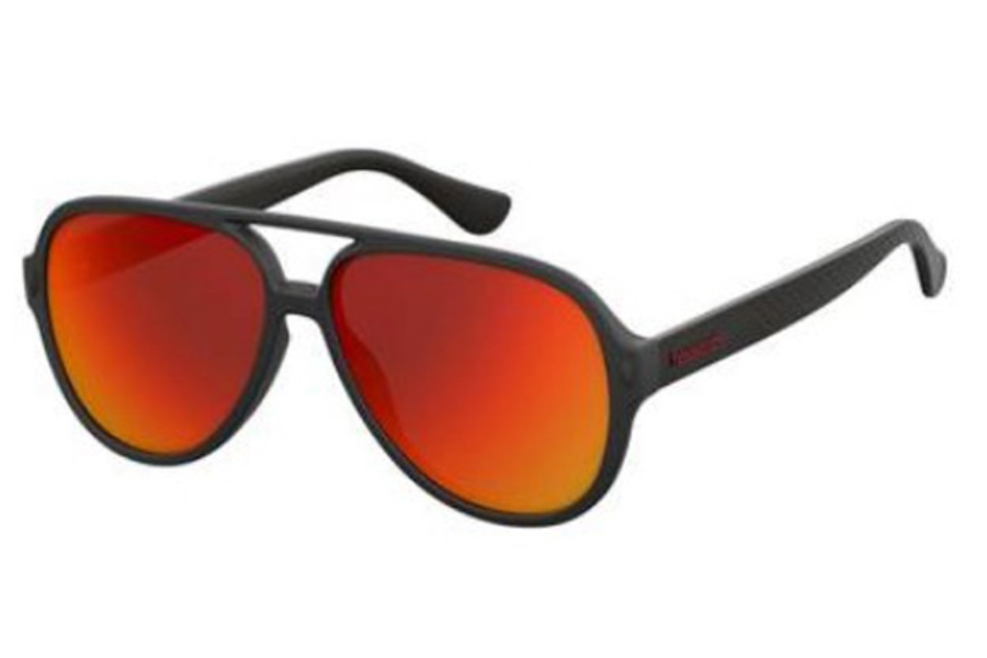 Havaianas Leblon Sunglasses in 0QFU Black (UZ red mirror lens)