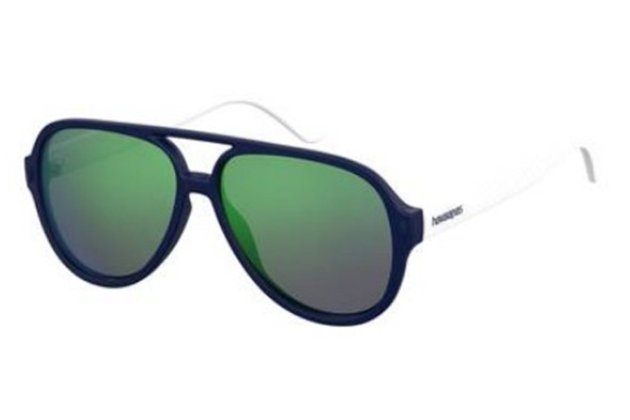 Havaianas Leblon Sunglasses in 0QMB Blue White (Z9 green multi pz lens)