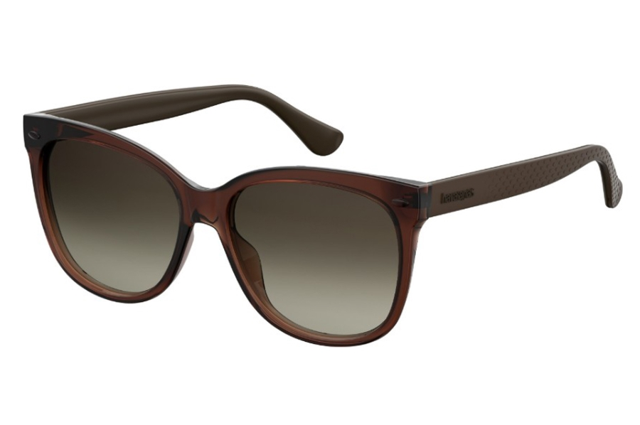 Havaianas Sahy Sunglasses in 0QGL Brown (HA Brown Gradient)