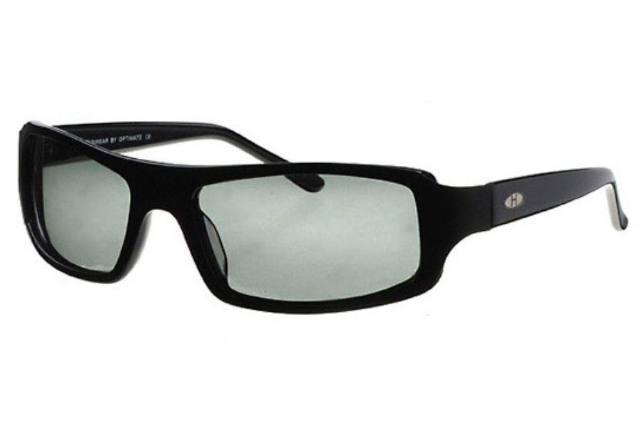 Heat H21 Sunglasses in Black w/ Gray Polarized Lenses