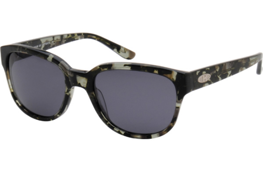 Heat HS0220 Sunglasses in GRY Dark Green Marble Frame With Gray Polarized Lens