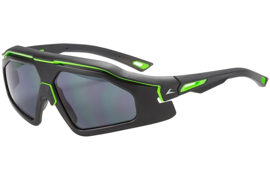 Hilco Leader Sports Trail Blazer Sunglasses in Matte Black/Lime