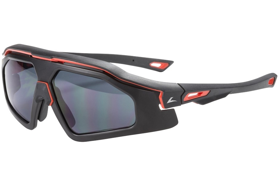 Hilco Leader Sports Trail Blazer Sunglasses in Matte Black/Red