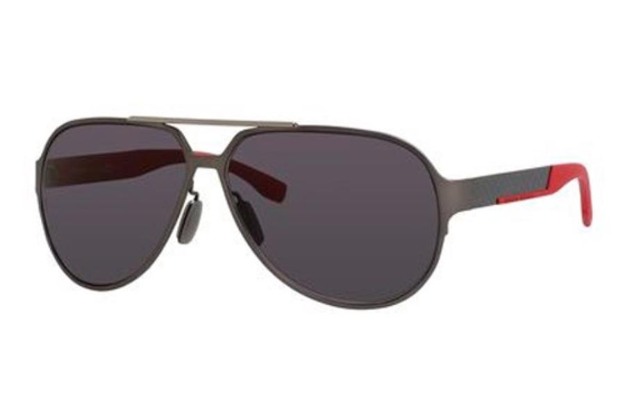 867281c725cb2 Hugo Boss BOSS 0669 S Sunglasses in 032P Dark Ruthenium Carbon (3H smoke  polarized ...