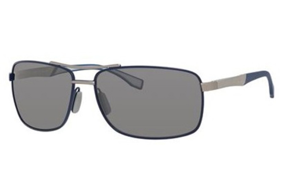 Hugo Boss BOSS 0697/P/S Sunglasses in 0GZW Blue Palladium (6H brown mirror shaded silver lens)