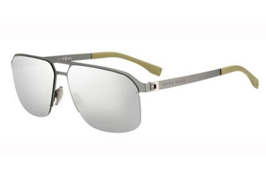 dfbaf26b30983 Hugo Boss BOSS 0839 S Sunglasses in 0R80 Semi Matte Dark Ruthenium (M3 gray  ...