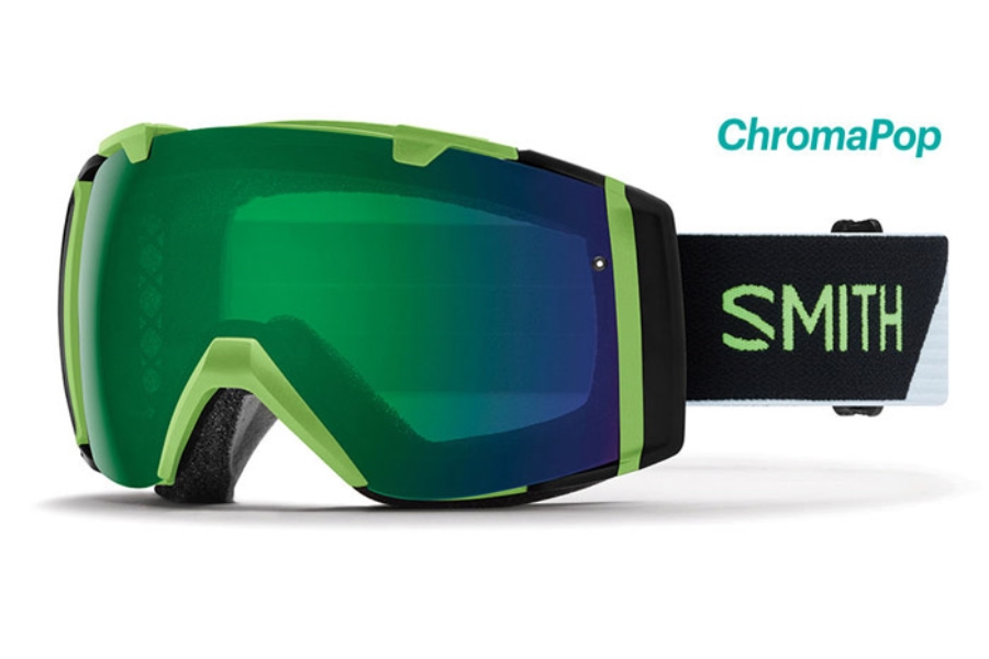 Smith Optics I/O Continued III Goggles in Reactor Split/ChromaPop Everyday Green Mirror
