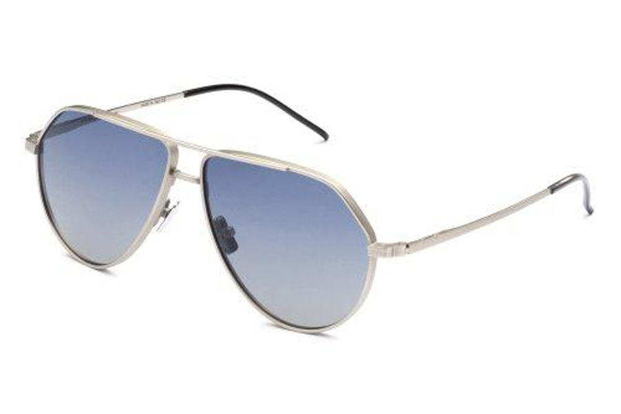 Italia Independent Dominique Sunglasses in 075.000 Silver (Shaded/Blue)