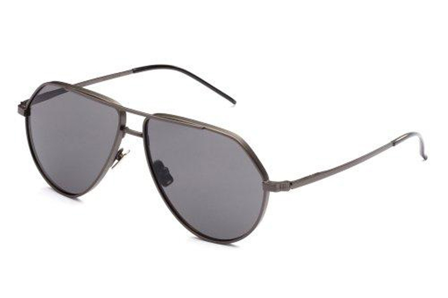 Italia Independent Dominique Sunglasses in 078.000 Gun Metal (Full/Grey)