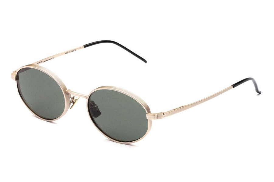 Italia Independent Francis Sunglasses in 121.000 Pink Gold (Full/Green)