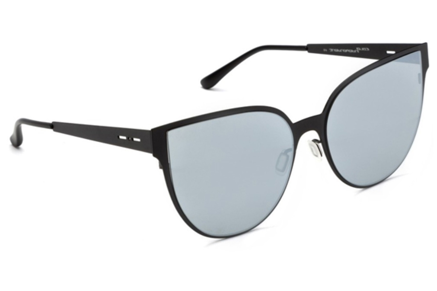 Italia Independent I-I MOD METAL 0511 Sunglasses in 03 Black - Lente Mirrored/Silver