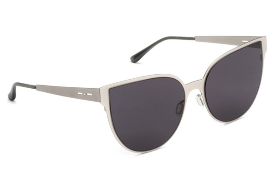 Italia Independent I-I MOD METAL 0511 Sunglasses in 04 Silver - Lente Full/Grey