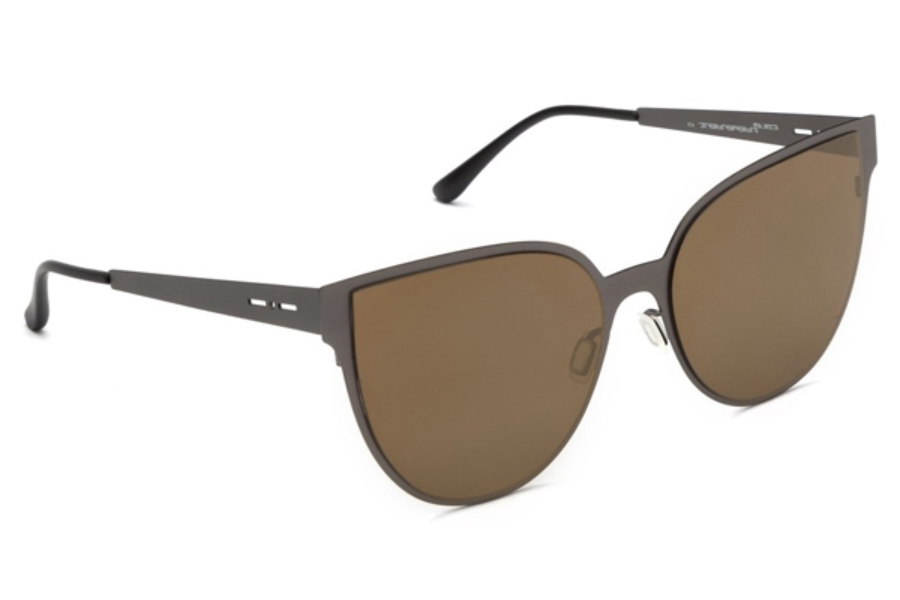Italia Independent I-I MOD METAL 0511 Sunglasses in 05 Gun Metal - Lente Mirrored/Gold