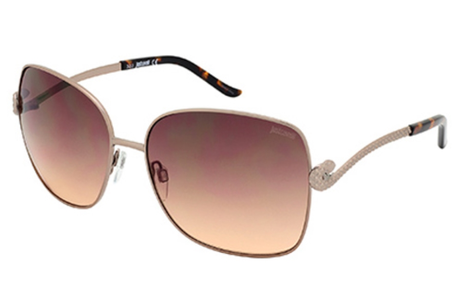Just Cavalli JC636S Sunglasses in 45F Shiny Light Brown / Gradient Brown