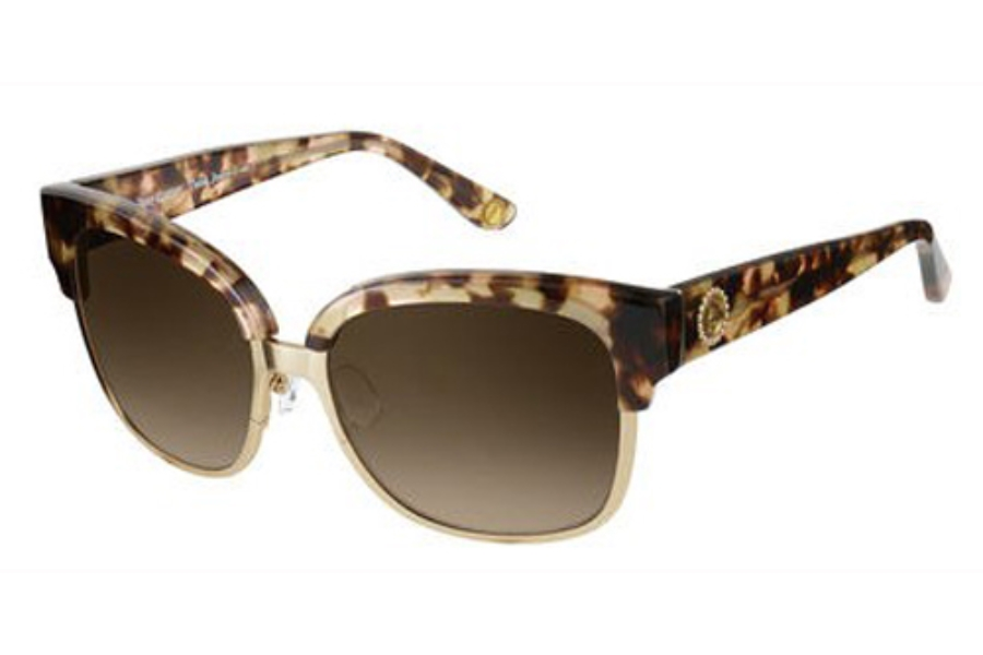 Juicy Couture JUICY 584/S Sunglasses in 00AV Pink Havana Gold (CC brown gradient lens)