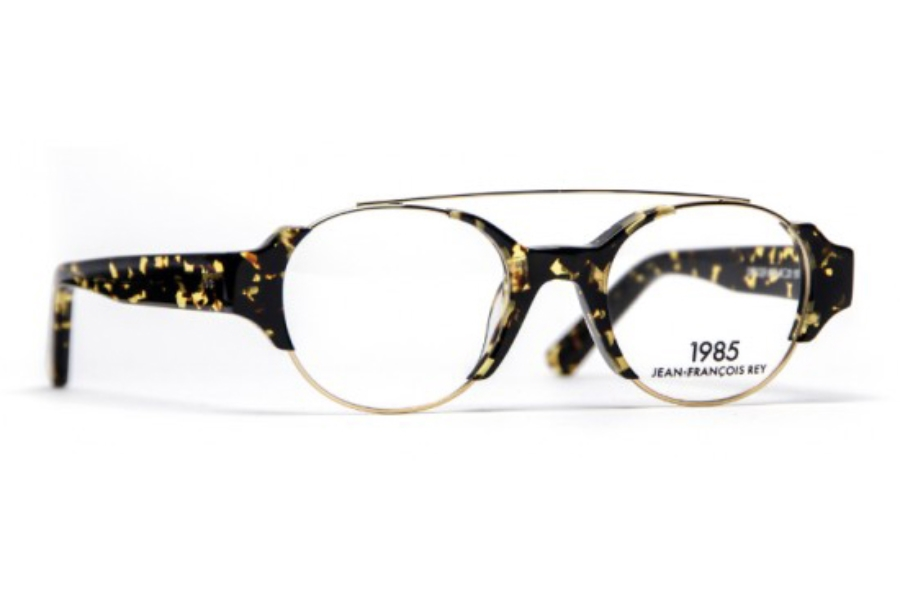 J.F. Rey 1985 Officer Eyeglasses in 9595 Demi With Light Gold Metal