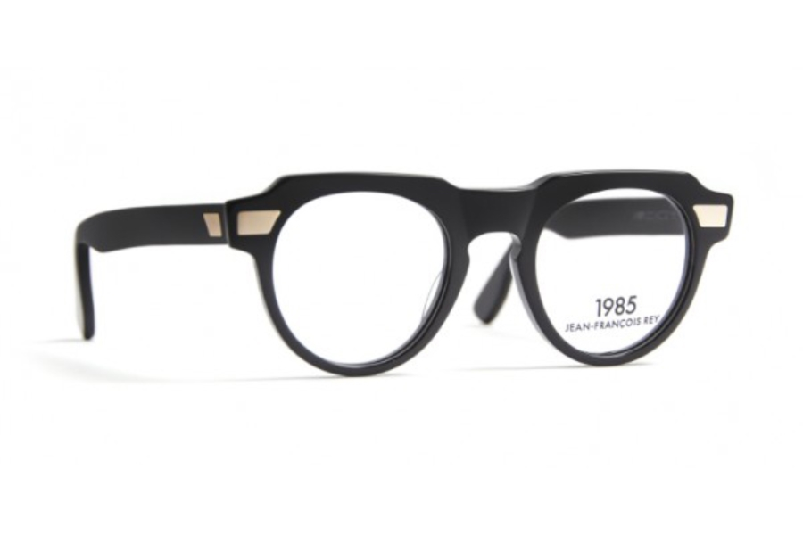 J.F. Rey 1985 Viper Eyeglasses in 0000 Black Gold Metal With Clip