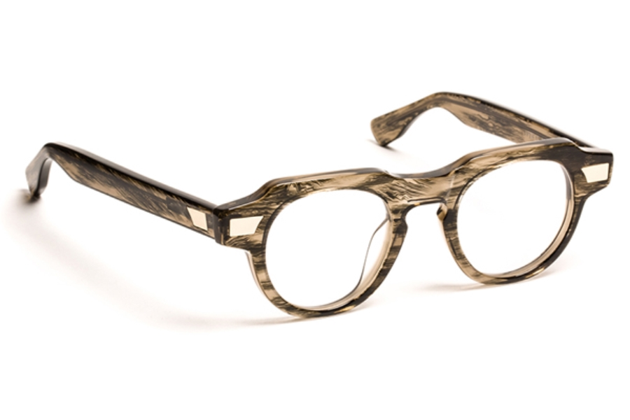 J.F. Rey 1985 Viperxs Eyeglasses in 9292 Cream Of Chestnut + Gold Metal