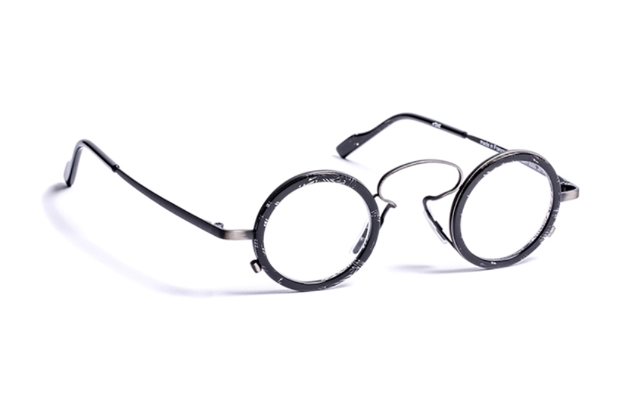 39178596f85 ... J.F. Rey 1985 Gatsby Eyeglasses in 0050 Brushed Ruthenium   Black ...