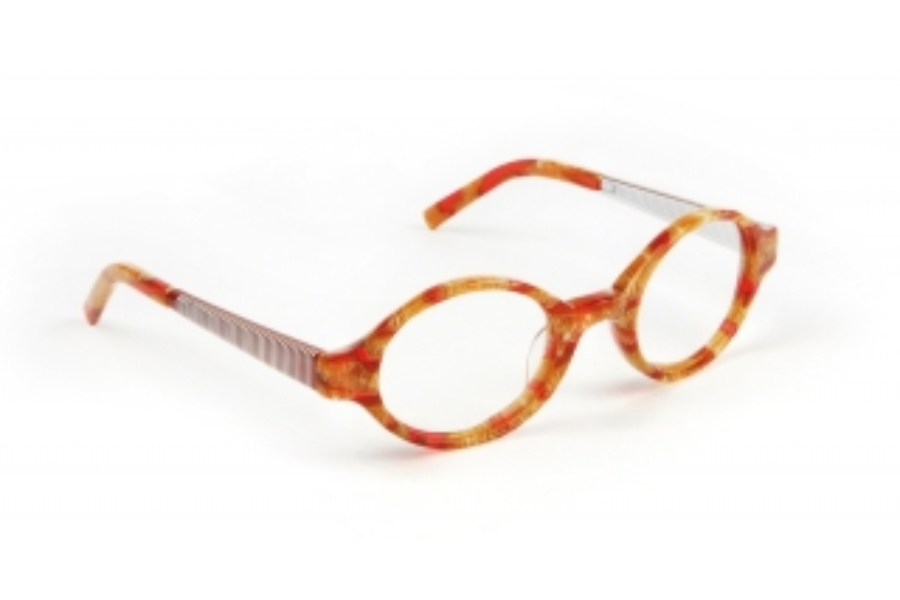 J.F. Rey Kids & Teens JKH HONEY Eyeglasses in 3010 Hair-Net - Red - Honey