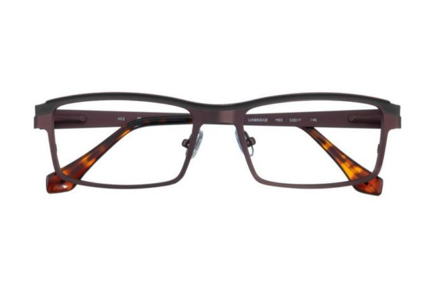 J K London Uxbridge Eyeglasses in M03 Dark Brown / Almost Black