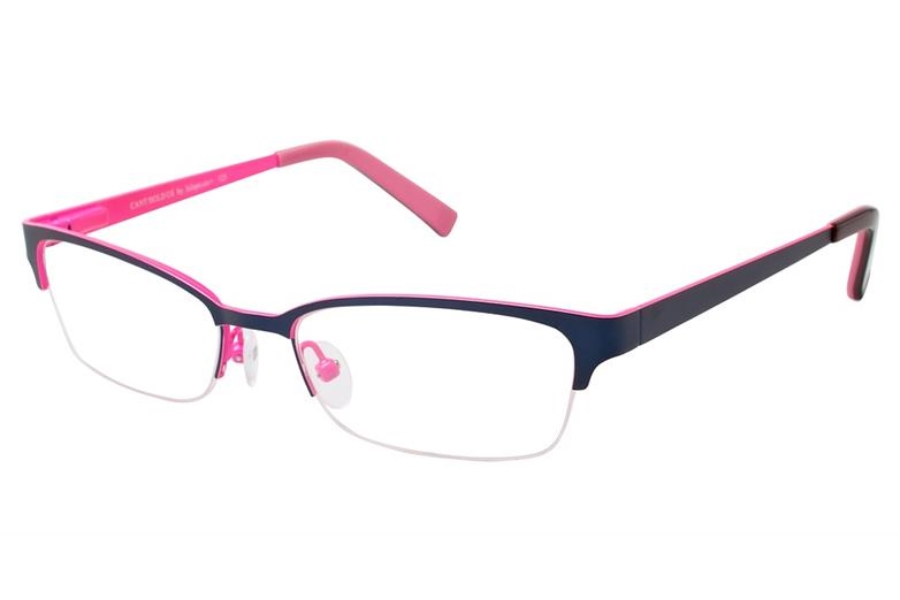 Jalapenos Cant Hold Us Eyeglasses in Navy/Pink