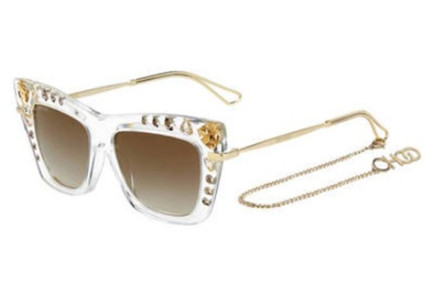 Jimmy Choo BEE/S Sunglasses in 0REJ Crystal Gold (FQ gray sf gold sp lens)