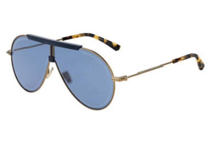 Jimmy Choo EDDY/S Sunglasses in 04QK Bronze Red Havana (KU blue avio lens)