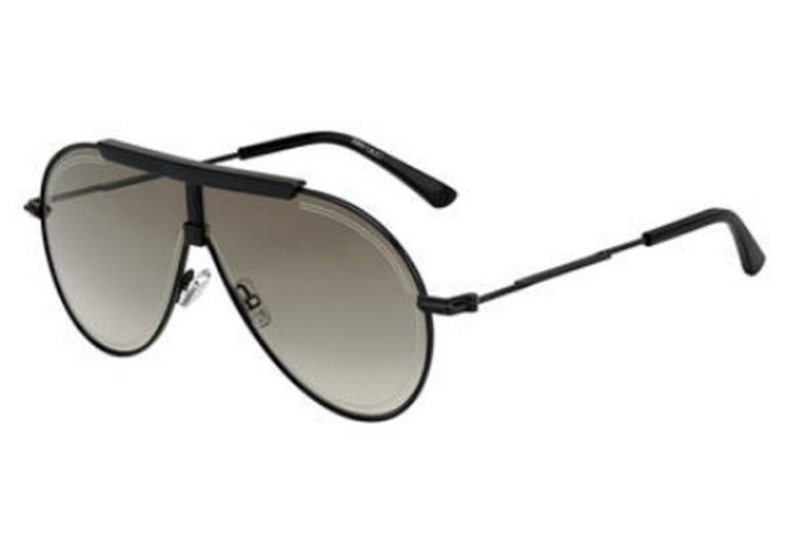 Jimmy Choo EDDY/S Sunglasses in 0807 Black (HA brown gradient lens)