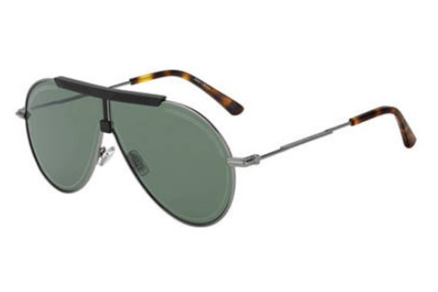 Jimmy Choo EDDY/S Sunglasses in 0EKP Dark Rust Havana (QT green lens)