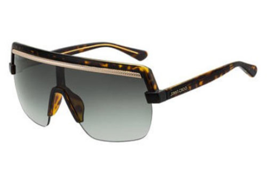 Jimmy Choo POSE/S Sunglasses in 0086 Dark Havana (9O dark gray gradient lens)