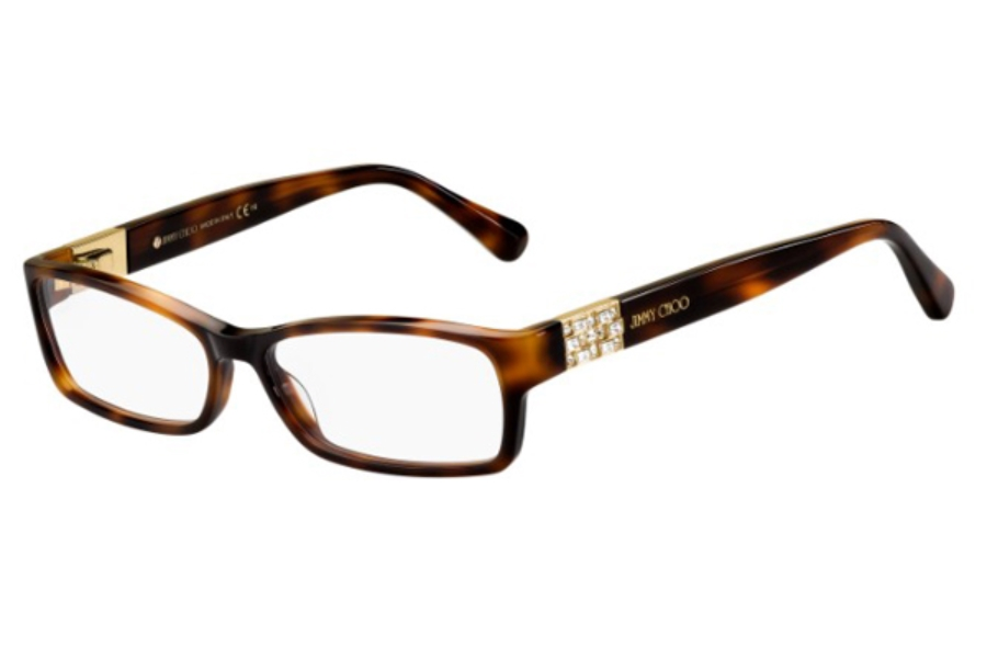 Jimmy Choo Jimmy Choo 41 Eyeglasses in 0086 Dark Havana (00 Demo Lens)