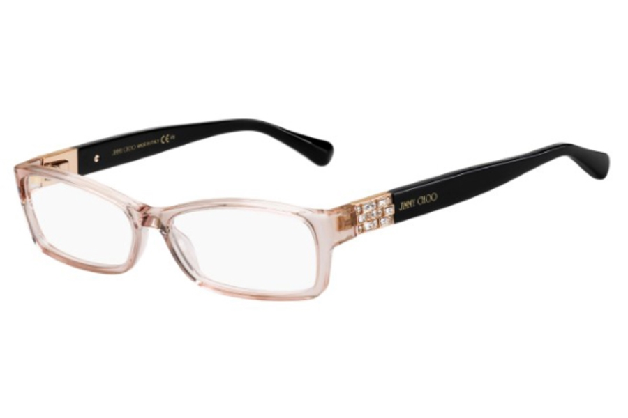 Jimmy Choo Jimmy Choo 41 Eyeglasses in 0130 Pink Black (00 Demo Lens)
