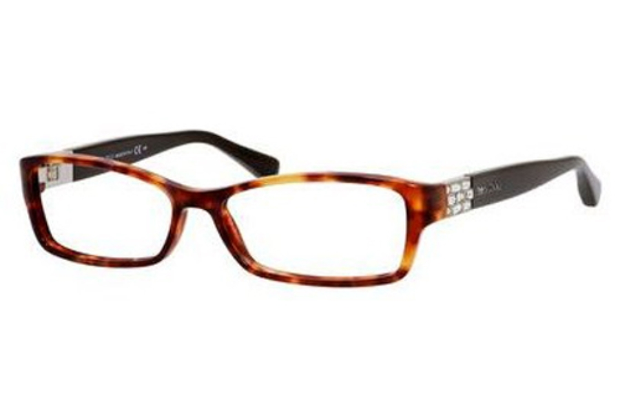 Jimmy Choo Jimmy Choo 41 Eyeglasses in 06VI Red Havana Brown