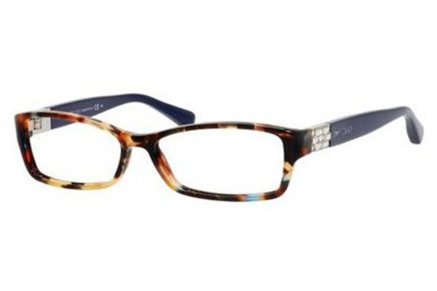 Jimmy Choo Jimmy Choo 41 Eyeglasses in 09DT Spotted Havana Blue