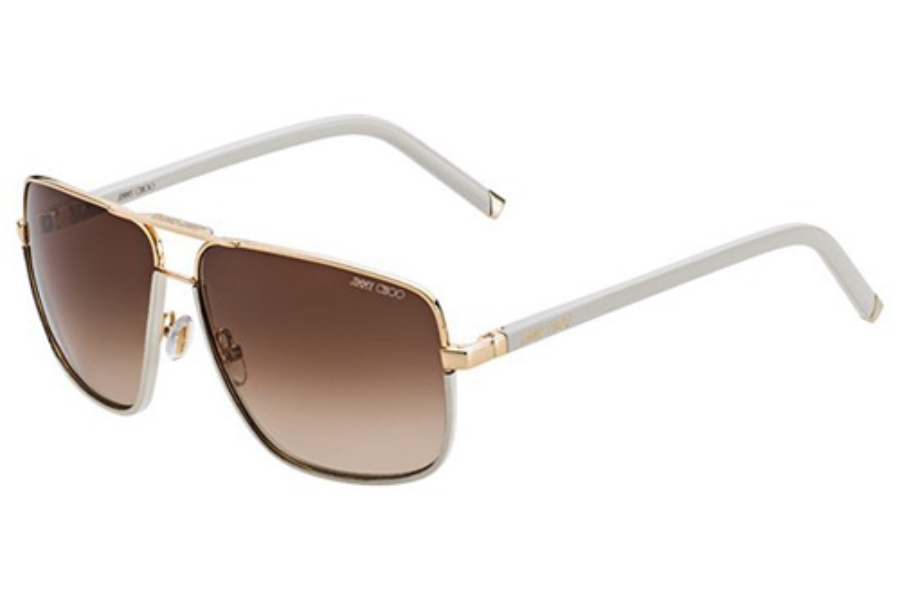 49def577c44 ... Jimmy Choo CARRY S Sunglasses in 0FHO Rose Gold   Butterscotch (JD  brown gradient ...